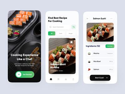 Recipe App design clean ui mobile app app clean clean app cooking app cooking cook app cook diet restaurant diet app restaurant app food food app recipes app recipe app recipes recipe
