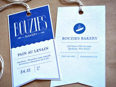 Bouzies Bakery Label