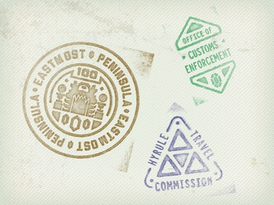 Hyrule passport stamps
