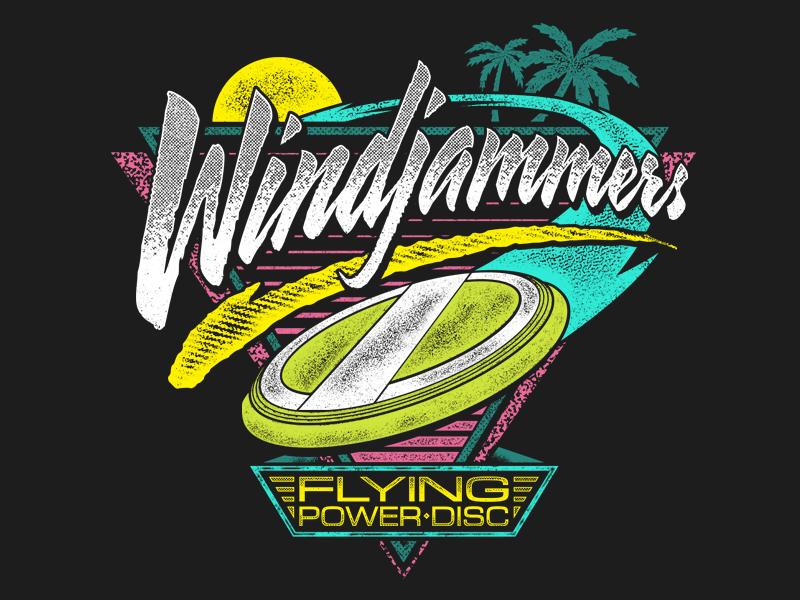 Windjammers - Jammin' frisbee disc power flying neon neogeo windjammers beach 90s design shirt