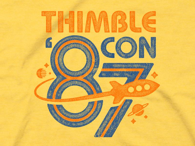 Thimbleweed Park - Thimblecon '87 T-shirt 80s retro t-shirt 87 thimblecon park thimbleweed