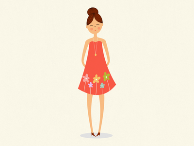 Girl with floral dress