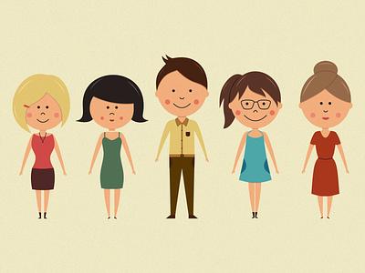 Character design illustration characters personas customer character illustration flat girl boy