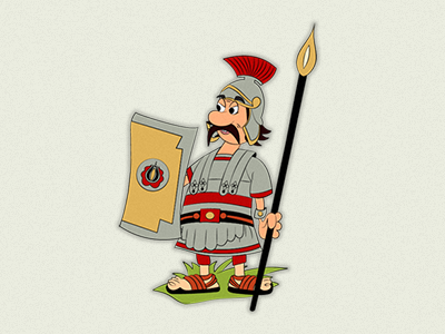 Roman soldier character design illustration transylvania soldier roman roman army szekler