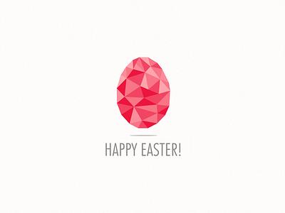 Happy Easter easter egg geometric design