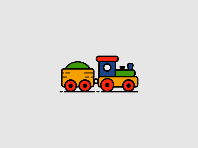 Toy Train children colors kids train toy