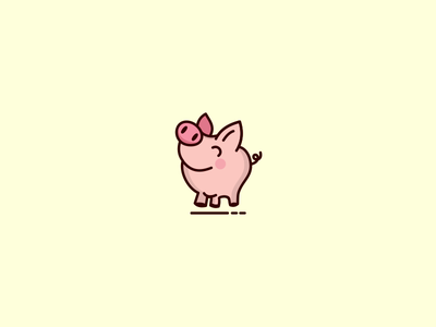 Arthur the pig cute animal piggy character pig illustration
