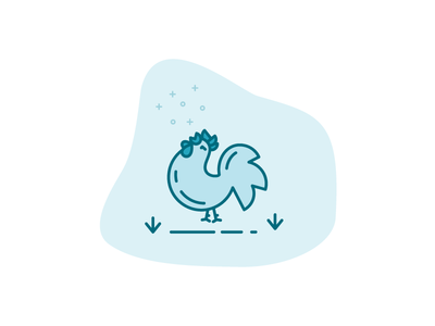 Mr. Rooster in action icon rooster
