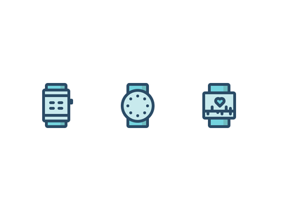 Smart Watches Icons technology health smart watches icons wearables