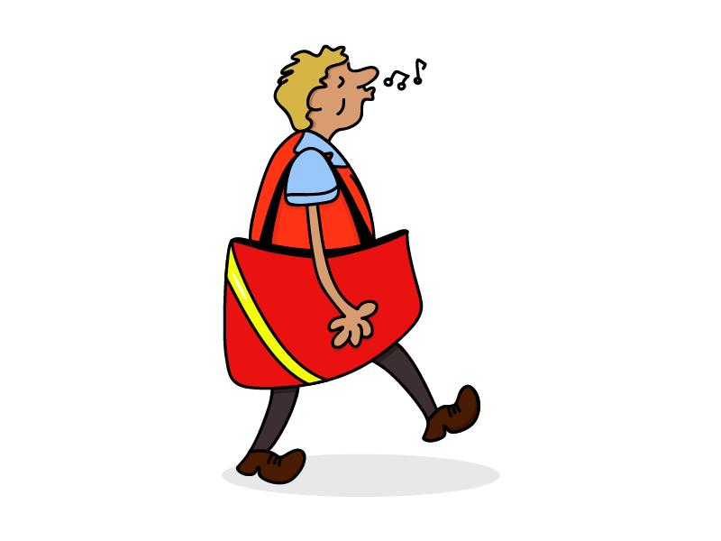 Postman Character Design cartoon character design postman