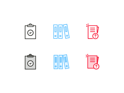 Office Icons paper clipboard folder office icons