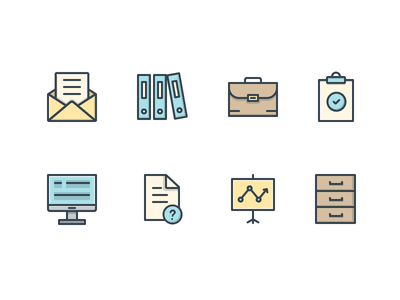 Office Icons  folder desktop envelope icons office