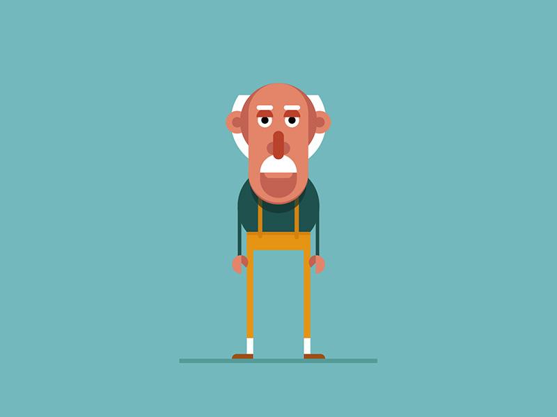 Character design: Grandpa characterdesign graphic design illustration