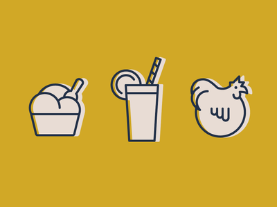Ghent Independent Icons playful illustration gelato ice cream drink chicken brand icons