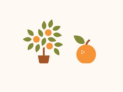 Clementine's Icons tree orange icons illustration