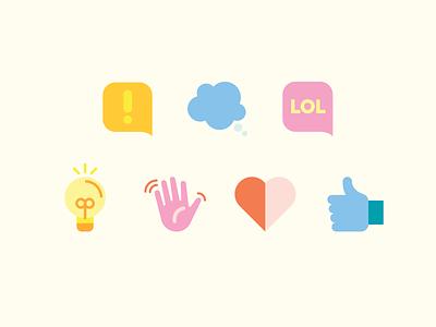 Reactions bumble emoji reaction emotion icon illustration