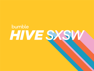 Bumble Hive SXSW logo sxsw texas austin event branding pop up experiential design branding