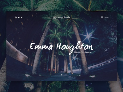 Portfolio Design ui ux coming soon design website designer palm trees header designbyeh snippet personal site portfolio