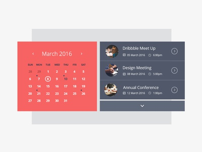 Event Calendar By Emma Houghton - Dribbble