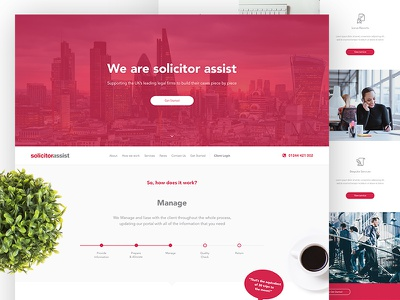 Solicitor Assist 2017 modern clean ui ux timeline office solicitor legal corporate website