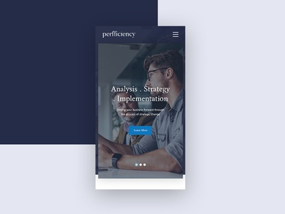 Perfficiency Mobile ui blue responsive mobile ux consultancy modern clean website business