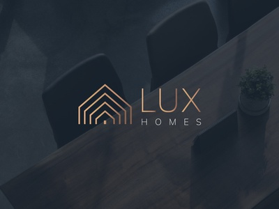 Lux Homes homes rose gold bronze modern clean interior property housing brand branding lux