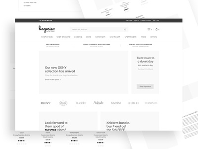 LOS Wireframe website web design modern magento ui ux wireframe beauty online store ecommerce lingerie