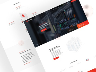 Data-Shield Homepage Design business madebyswish red data it website website web design services infographic corporate ui clean ux