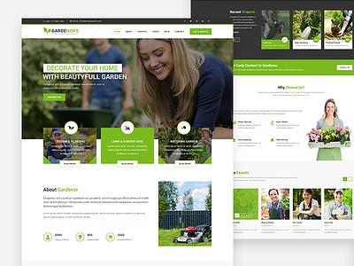 Gardening - Gardening and Landscaping HTML Template web development landscaping gardening template landing page debut web design