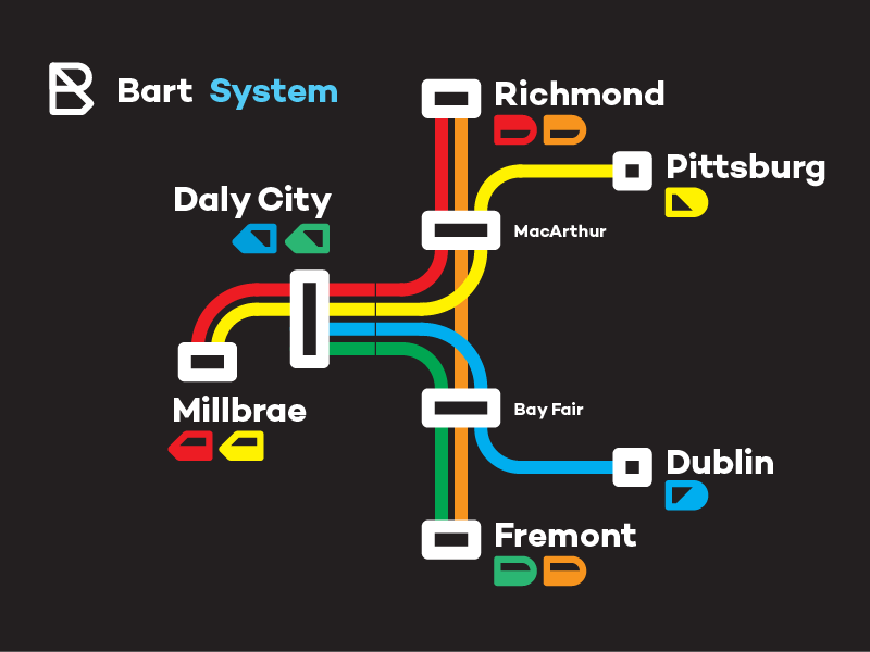 Bart Subway System 2017 By Matthew Lew Dribbble Dribbble