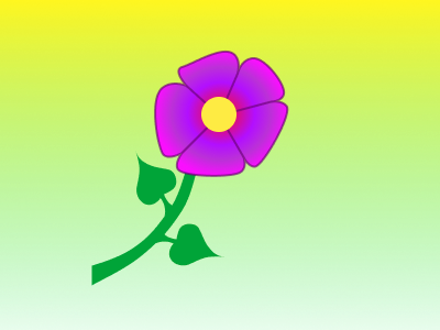 Flowers ux abstract illustration