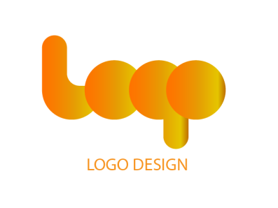 Logo circle illustration logo abstact