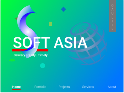 Interface SoftAsia with logo