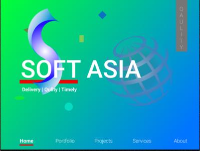 Interface SoftAsia with logo