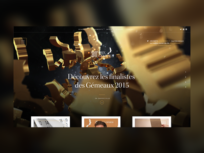 Redesign Les Gémeaux Website flat design ux ui website redesign awards