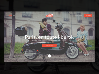 Mober Home page ux ui identity logotype app logo