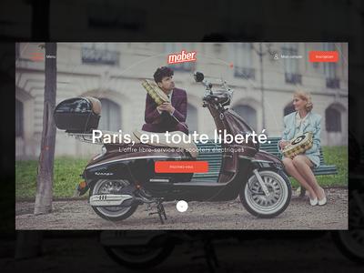 Mober Home page ux ui identity logotype app logo