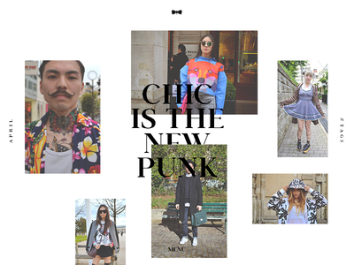 HomePage Chic Is The New Punk ae animation typo minimal ux ui gif mp4 motion