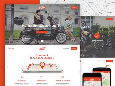 Mober HomePage app web webdesign identity logotype logo vintage minimal ux ui design onepage