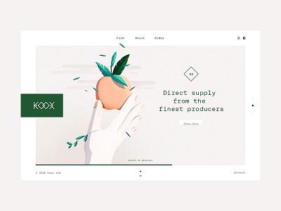 Koox - Restaurant #2 food branding identity logo logotype restaurant typography graphic design