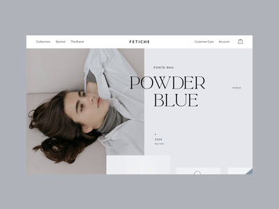 Fetiche store product page typography website heading smooth animation monochrome fashion editorial ecommerce interface horisontal scroll carousel slider product page animation web
