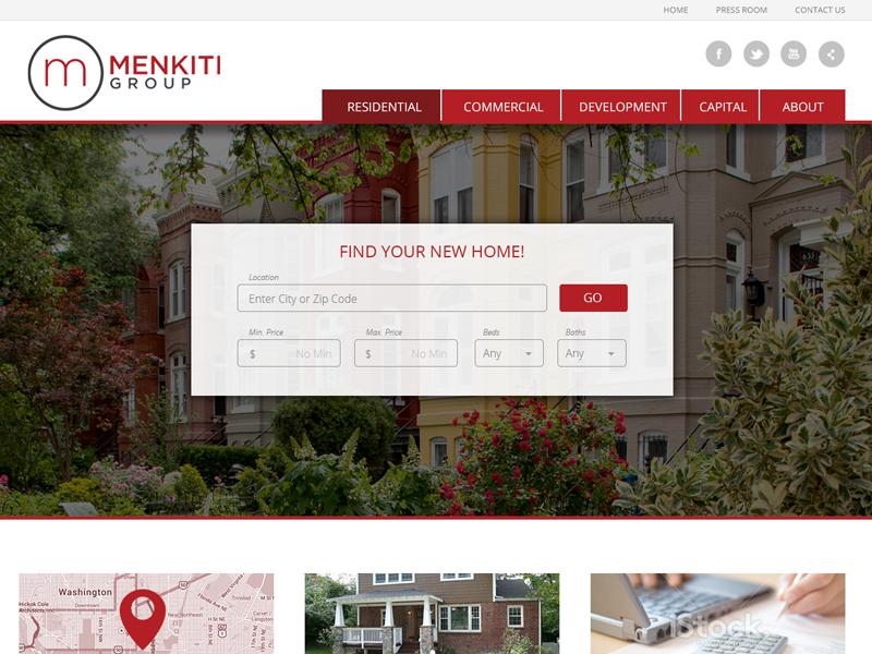 MG Homepage Design web design web development wordpress graphic design responsive ui desktop custom real estate washington dc