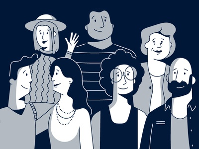 Just a Bunch of Folks character illustration faces people law