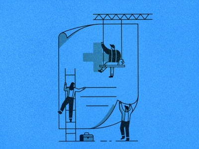 Building a Document legal workers people construction illustration build