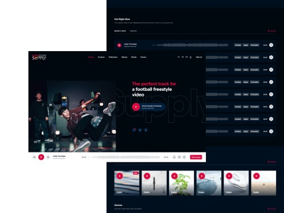 Red Bull Sound Supply design web ux responsive platform website red bull