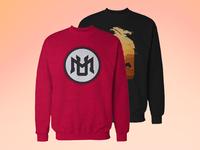 Crew Neck Sweatshirt Mockup [Free]