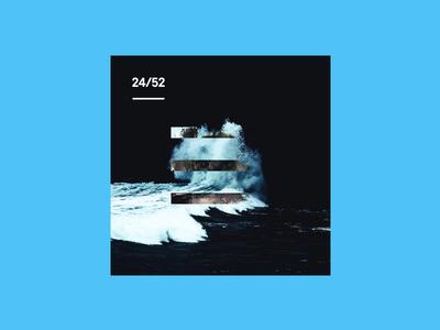 Weekly Mixtape - 24 Stripes weekly simple minimal typography design cover music mixtape clean