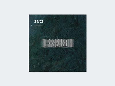 Weekly Mixtape - 25 Offseason weekly simple minimal typography design cover music mixtape clean