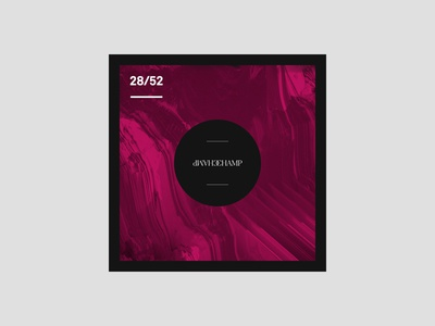 Weekly Mixtape - 28 Champ weekly simple minimal typography design cover music mixtape clean