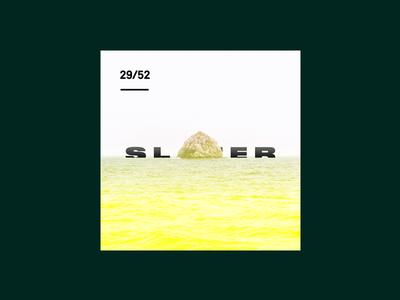Weekly Mixtape - 29 Slater weekly simple minimal typography design cover music mixtape clean